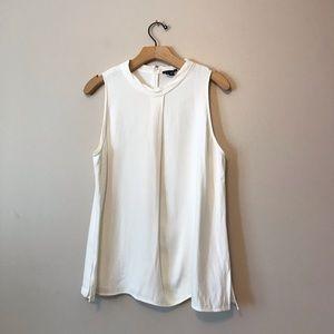 Theory sleeveless white blouse